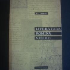 AL. PIRU - LITERATURA ROMANA VECHE - Studiu literar