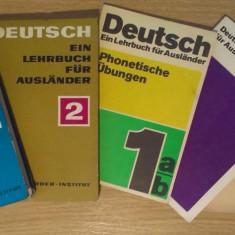 SET CĂRȚI DE LB. GERMANĂ (DEUTSCH EIN LEHRBUCH FUER AUSLAENDER), 1968 - Curs Limba Germana Altele