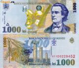 ROMANIA, 1000 LEI 1998, UNC_filigran oblic BNR_seria 001A8285148~001A8285152