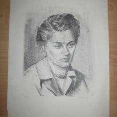 LITOGRAFIE GRANT CHARLES, 1957 // SCOALA DE ARTE