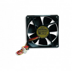 Ventilator carcasa Gembird (FANCASE), universal de 80mm, conector 3-pin, Negru - Cooler PC