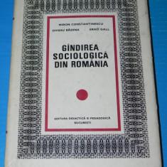 GANDIREA SOCIOLOGICA DIN ROMANIA - MIRON CONSTANINESCU OVIDIU BADINA (04506 - Carte Sociologie
