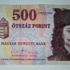 Bancnota Ungaria 500 forint - circulata VF - 2008 - bancnota europa