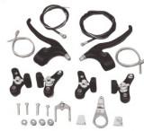 Set Complet Frana / Frane V-BRAKE + Manete + Cabluri Bicicleta BMX