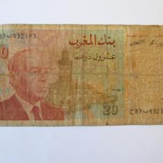 MAROC 20 DIRHAMS 1996 - bancnota africa