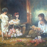 Pictura - Pictor roman, An: 2014, Flori, Ulei, Impresionism