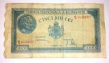 Bancnota Romania 5000 lei 1945 -20 decembrie - circulata