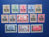 TIMBRE GERMANIA COLONIE MOROCCO 1911 SET 45-47 MH SERIE, Nestampilat