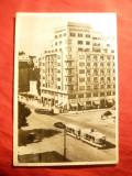 Ilustrata Bucuresti -Bul. N.Balcescu ,circulat 1959 ,francatura mecanica rosie, Circulata, Fotografie