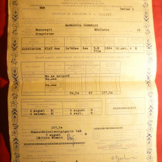 Carte Internationala Asigurare pt.Autovehicole -Contract Asigurare 1968