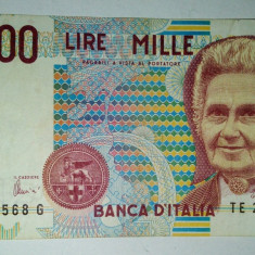 Bancnota Italia 1000 lire - 1990 - VF