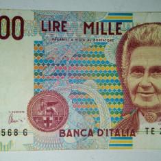 Bancnota Italia 1000 lire - 1990 - VF - bancnota europa
