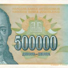 IUGOSLAVIA 500.000 dinara 1993 VF+++!!! - bancnota europa