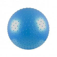Minge Fitness inSPORTline, aerobic si masaj 65 cm - cu pompa - albastra - Noua, Minge gimnastica