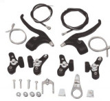 Set Complet Frana / Frane V-BRAKE + Manete + Cabluri Bicicleta