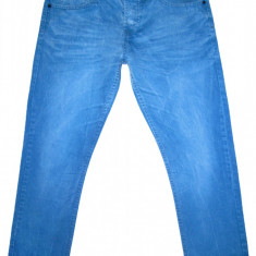 ONE GREEN ELEPHANT - (MARIME: 33 x 32) - Talie = 89 CM, Lungime = 103 CM - Blugi barbati, Culoare: Albastru, Prespalat, Drepti, Normal