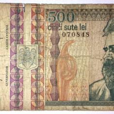 Bancnota Romania 500 lei 1992 - circulata - Bancnota romaneasca, An: 1945