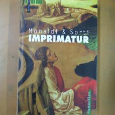Rita Monaldi Francesco Sorti Imprimatur Bucuresti 2004 - Roman istoric