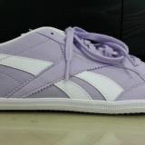 Adidasi Originali REEBOK- adidasi unisex - tenisi dama - 40.5 - Adidasi dama Reebok, Culoare: Lila, Piele sintetica