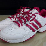 Adidasi originali femei ADIDAS -de alergare- piele- adidasi unisex - 40 2/3 - Adidasi dama, Culoare: Alb, Piele sintetica