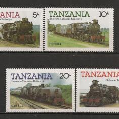 Tanzania.1985 Locomotive ST.592 - Timbre straine, Nestampilat