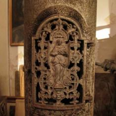 Soba antica de fonta, piesa veche decorativa si functionala, Godin - Metal/Fonta