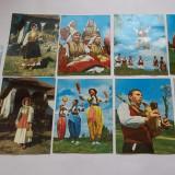 Lot carti postale port popular Macedonia, Serbia, Kosovo, Voivodina si Croatia, Necirculata, Printata