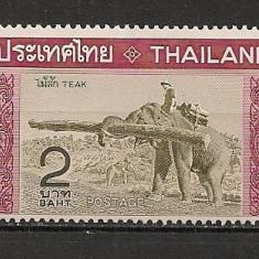 Thailanda.1968 Prelucrarea arborelui de tei-Elefanti  ST.593