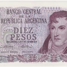 ARGENTINA 10 pesos ND 1973 UNC - bancnota america