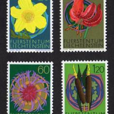 Liechtenstein 1972 flori - serie nestampilata MNH - Timbre straine