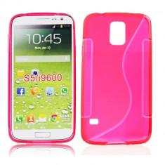 Husa Samsung Galaxy S5 TPU S-LINE Rosie - Husa Telefon Samsung, Rosu, Gel TPU, Fara snur, Carcasa