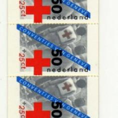 Carnet filatelic OLANDA CRUCEA ROSIE Mi 30 - Timbre straine, Medical, Nestampilat