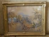 Cumpara ieftin Tablou vechi 1860 scoala franceza pastel - rama Blondel