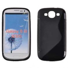 Husa Samsung Galaxy S3 i9300 TPU S-LINE Neagra - Husa Telefon, Negru, Gel TPU, Fara snur, Carcasa