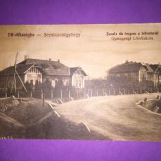 Sfantu Gheorghe - Scoala de tragere a infanteriei - Carte Postala Transilvania 1904-1918, Circulata, Fotografie