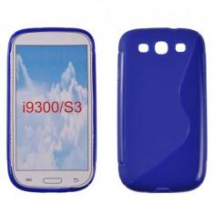 Husa Samsung Galaxy S3 i9300 TPU S-LINE Albastra - Husa Telefon Samsung, Albastru, Gel TPU, Fara snur, Carcasa