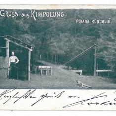 1473 - Litho, Suceava, CAMPULUNG, Poiana Runcului - old postcard - used - 1899 - Carte Postala Moldova pana la 1904, Circulata, Printata