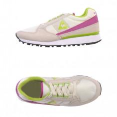 Adidasi originali sport LE COQ SPORTIF-piele-adidasi femei-cutie-36, 37, 38, 39, 40 - Adidasi dama Le Coq Sportif, Culoare: Crem, Piele naturala