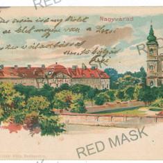 1089 - L i t h o, ORADEA - old postcard - used - 1898 - Carte Postala Crisana pana la 1904, Circulata, Printata