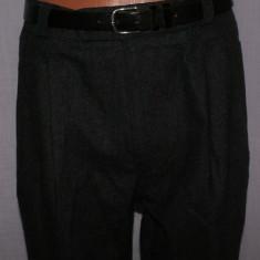 Pantaloni office barbati RENE LEZARD din casmir si lana marimea 48 - Pantaloni barbati, Culoare: Negru, Lungi
