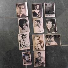 Fotografii cu actori celebri.15 buc. dintre care 4 sun de format mai mare.