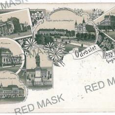 1104 - L i t h o, ORADEA - old postcard - used - 1898 - Carte Postala Crisana pana la 1904, Circulata, Printata