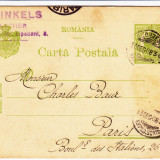 CARTE POSTALA BUCURESTI - PARIS 1908 ; M.FINKELS - BANKER