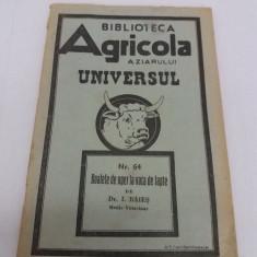 BIBLIOTECA AGRICOLĂ A ZIARULUI UNIVERSUL/BOALELE DE UGER LA VACA DE LAPTE/1944