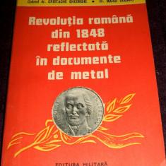 Revolutia romana din 1848 reflectata in documente de metal, medalii, sigilii