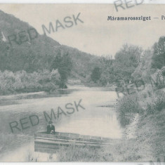 1870 - Maramures, SIGHET, boat on the river - old postcard - used - 1908, Circulata, Printata