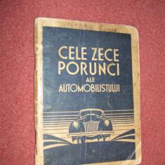 Cele zece porunci ale automobilistului - Ford România - 1940 - Carti Transporturi