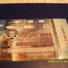 Abonament Rapid 2003-2004 - Bilet meci