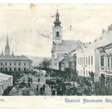 1773 - Maramures, SIGHET, Market - old postcard - used - 1901