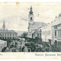 1773 - Maramures, SIGHET, Market - old postcard - used - 1901 - Carte Postala Maramures pana la 1904, Circulata, Printata